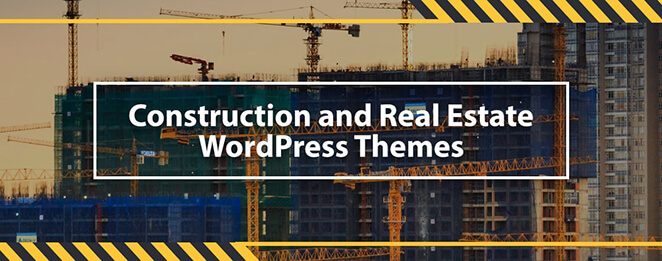 30+ Clean and Simple construction and real estate WordPress Themes in 2020