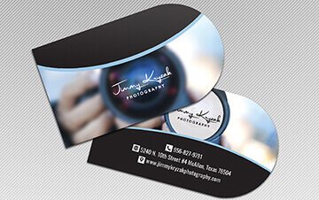 Half Circle Business Card