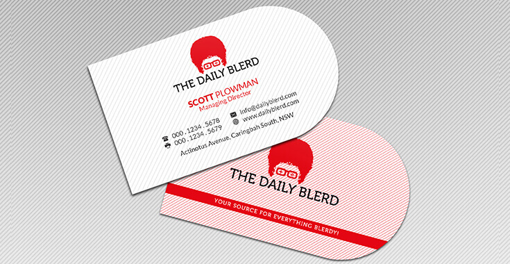Half Circle Business Card Design Custom Shaped Card Design Prodesigns