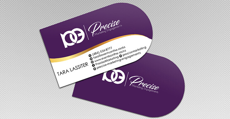 Half Circle Business Card Template
