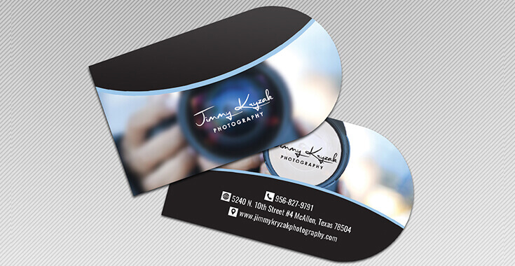 Half circle business card design custom shaped card design prodesigns slider item colourmoves