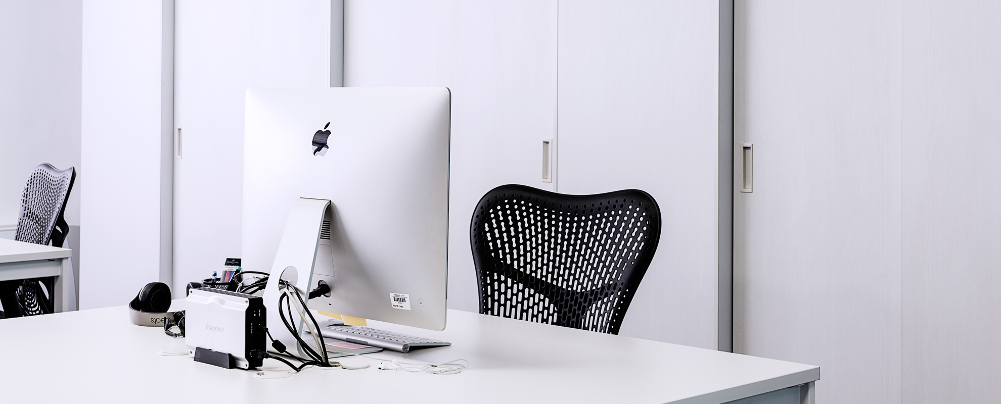 Working Table With Branded iMac