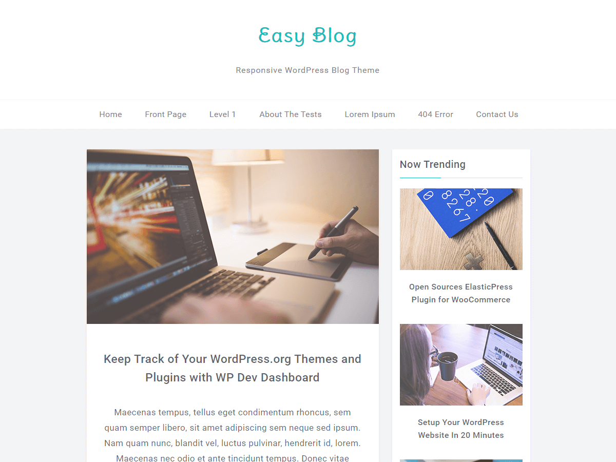 10+ Best Free Responsive Blog Themes - ProDesigns Themes