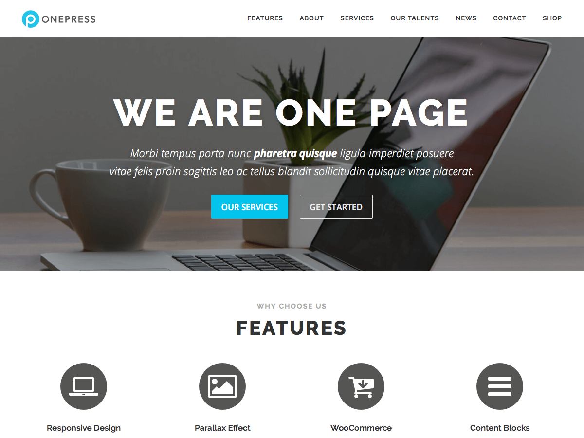 Free One Page WordPress Themes - ProDesigns Themes
