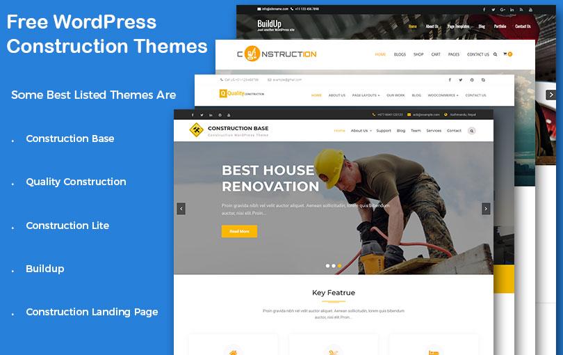 Free WordPress Construction Company Themes