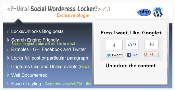 Social Content Locker for WordPress