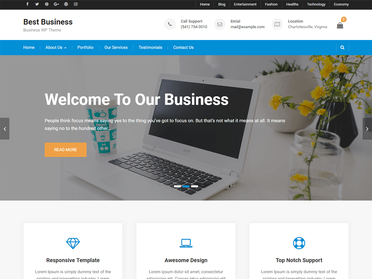 Best free responsive wordpress business themes like the name this theme is the one among the best free responsive wordpress business themes to use for corporate business digital agencies and other accmission Gallery