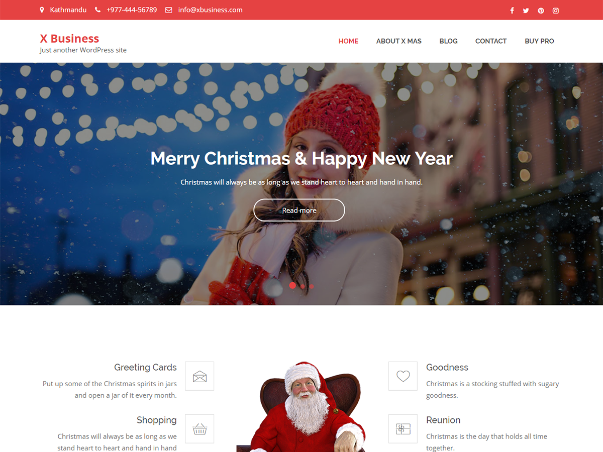 X business best free christmas responsive wordpress theme 2018 how x business a wordpress theme benefits friedricerecipe Gallery