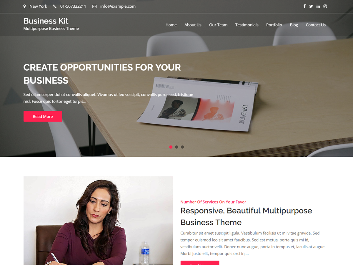 free responsive WordPress business themes